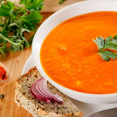 Чечевичный суп-пюре с тыквой