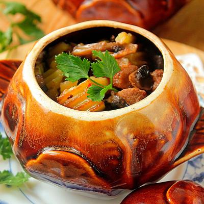 Печеня з телятини з грибами