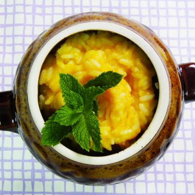 Сладкая тыквенная каша с рисом в горшочке