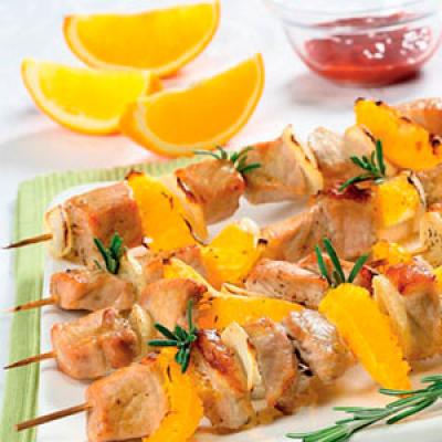 Шашлык из свинины с апельсинами